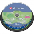 CD-RW Verbatim 700Mb,8-12x,Cake Box 10 шт